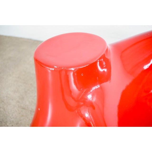 Red Mid Century Wendell Castle Red Fiberglass Lounge Chair For Sale - Image 8 of 11