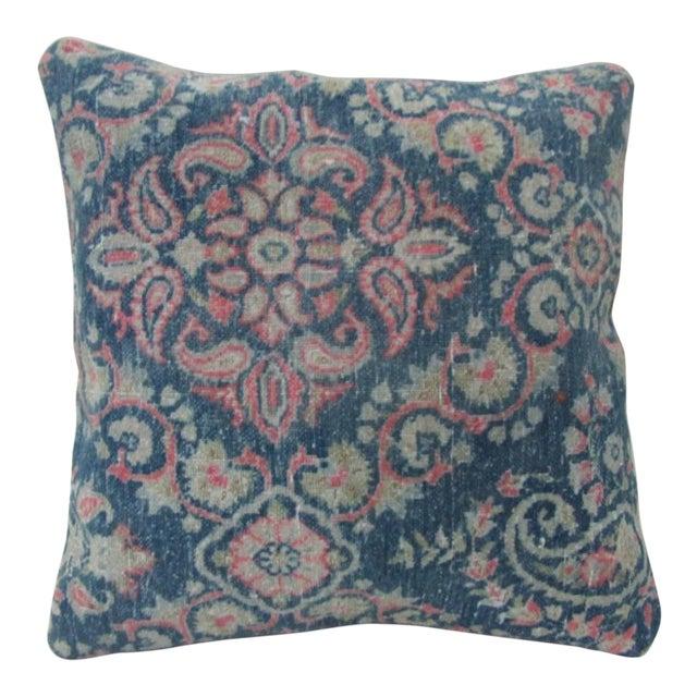 Vintage Blue Turkish Kilim Pillow Cover For Sale