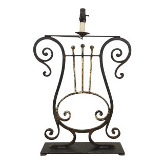 French Iron Fragment Lamp