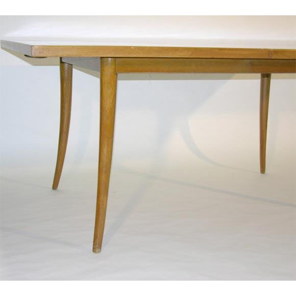 Mahogany Harvey Probber Sabre Leg Dining Table For Sale - Image 7 of 7