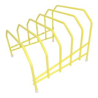 Yellow Wire Metal Desktop File Organizer For Sale