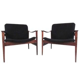 Vintage Modern Fredrik Kayser Lounge Chairs For Sale