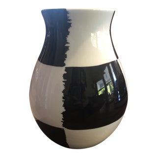 Bitossi Italian Black & White Modernist Vase For Sale