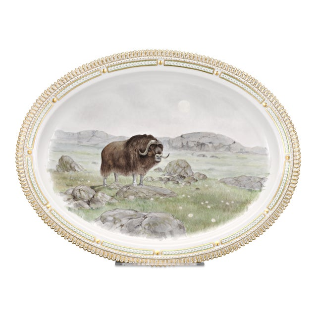 Mid 20th Century Flora Danica Musk Ox Serving Platter For Sale - Image 5 of 5