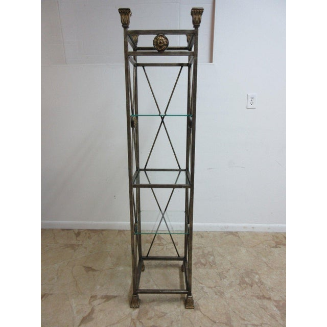 Maitland Smith Metal French Regency Etagere Shelf For Sale - Image 10 of 10