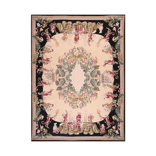 French Needlepoint Tapestry Rug - 9′ × 12′ For Sale