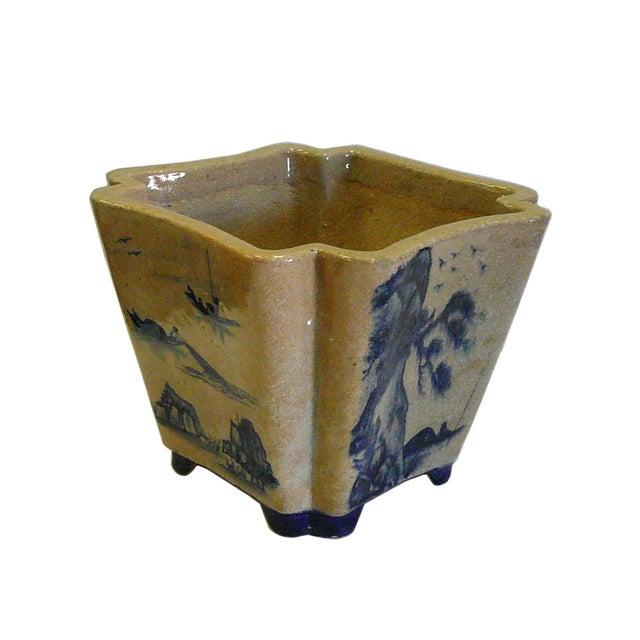 Oriental Scenery Ceramic Planter & Flower Pot - Image 3 of 5