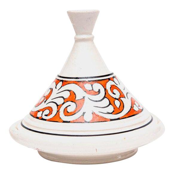 Moroccan Ceramic Handpainted Tajine For Sale - Image 4 of 4