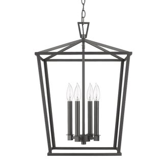 Ponce City 4 Light Pendant, Forged Black