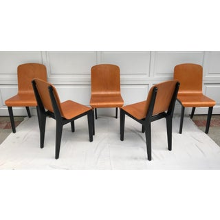 Vintage Rounded Bent Plywood Chairs - Set of 5 Preview