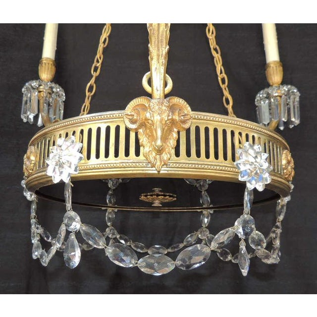 French 19th C French Régence Bronze Chandelier For Sale - Image 3 of 8