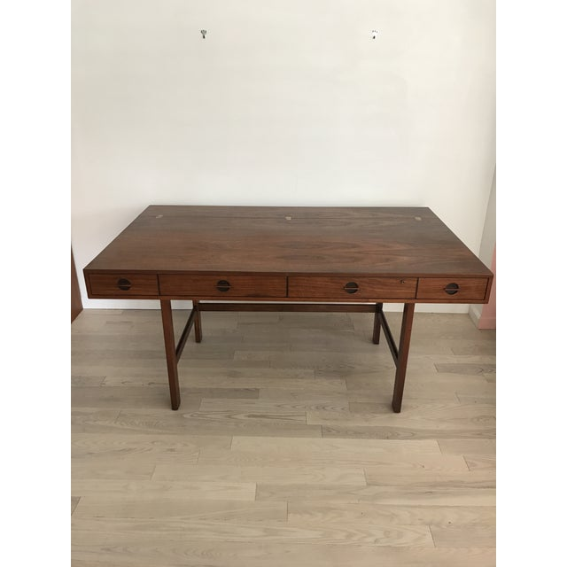 Peter Lovig Nielsen Rosewood Folding Dansk Danish Desk Circa 1965 - Image 10 of 11
