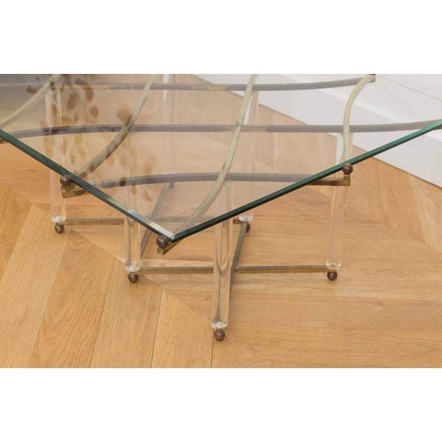 "Charles Hollis Jones ""Treillage"" Cocktail Table For Sale - Image 5 of 8"