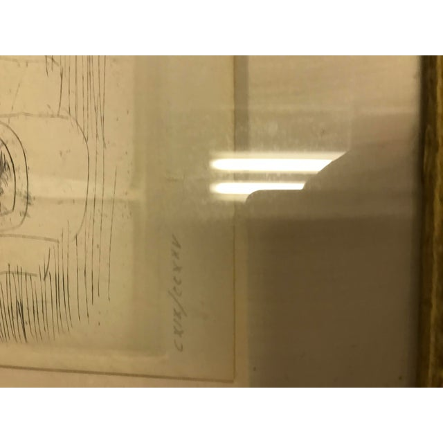1940s 1940s Abstract Original Raoul Dufy Framed Etching For Sale - Image 5 of 8