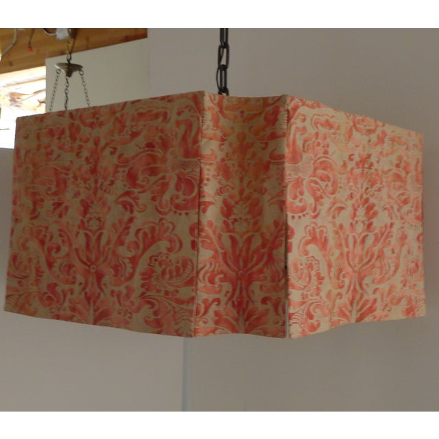 Modern Draped Chandelier in Vintage Fortuny Fabric by Paul Marra For Sale - Image 5 of 11