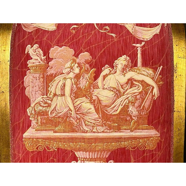 Ten Neoclassical Dining Chairs in Fine Versace Style Fabric For Sale In New York - Image 6 of 12
