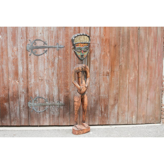 Gold Bamum African Large Tribal Statue For Sale - Image 8 of 11