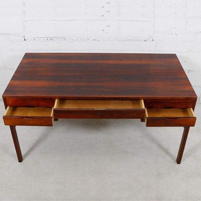 Danish Modern Rosewood Desk by Arne Wahl Iversen - Image 3 of 7