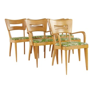 Heywood Wakefield Mid Century Dog Bone Dining Chairs - Set of 6 For Sale
