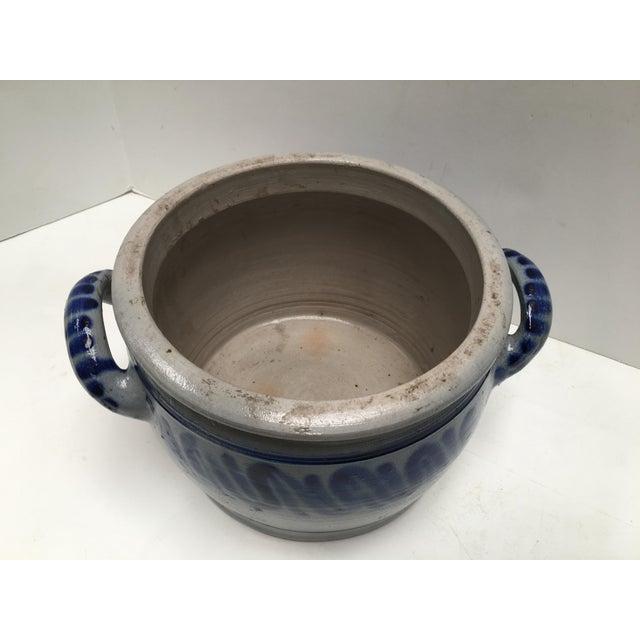 Vintage German Blue Salt Glazed Crock For Sale - Image 4 of 9