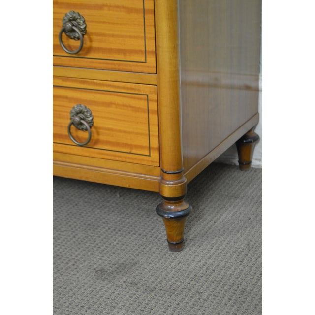 Kittinger Regency Style Pair of Satin Wood Chests of Drawers For Sale In Philadelphia - Image 6 of 13