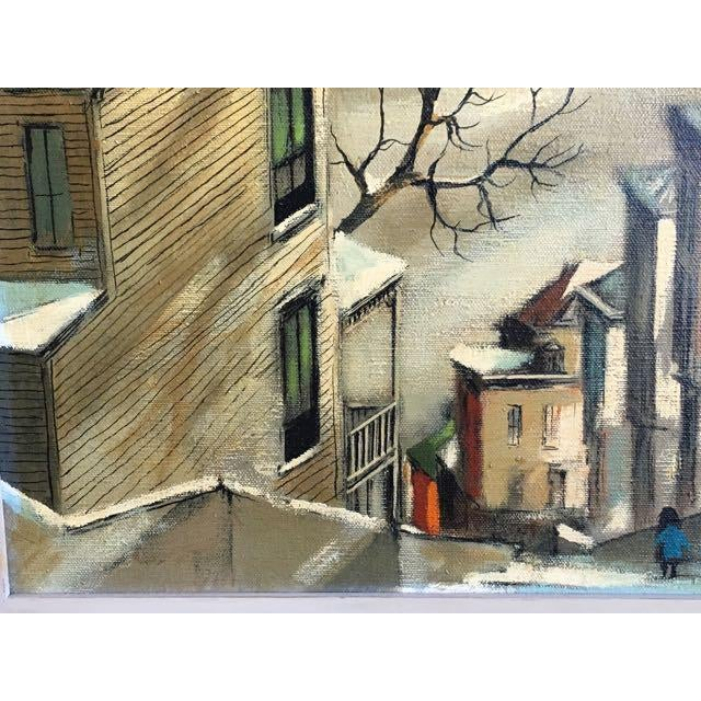 "Paint Robert Fabe ""View From the Steps"" Tempera on Canvas Painting For Sale - Image 7 of 11"