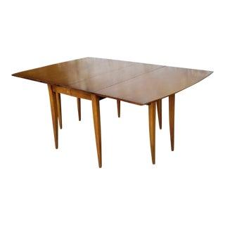 Vintage Walnut Drop Leaf Dining Table
