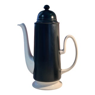 Mod Black and White Carltonware Teapot For Sale