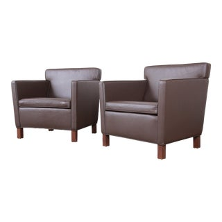 Ludwig Mies Van Der Rohe for Knoll Studio Krefeld Leather Club Chairs, Pair For Sale