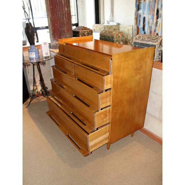 Mid-Century Modern Edmond J. Spence for Walpole Chest Cabinet For Sale - Image 3 of 8