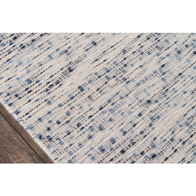 """Contemporary Erin Gates Dartmouth Bartlett Blue Hand Made Wool Runner 2'3"""" X 8' For Sale - Image 3 of 7"""