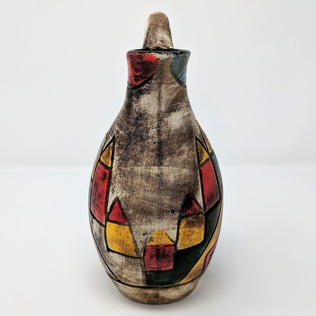 Abstract Vintage Abstract Ceramic Vase For Sale - Image 3 of 7