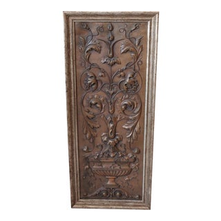 Late 19th-C. Copper Plaque For Sale