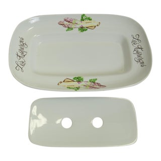 French Asparagus Serving Platter For Sale