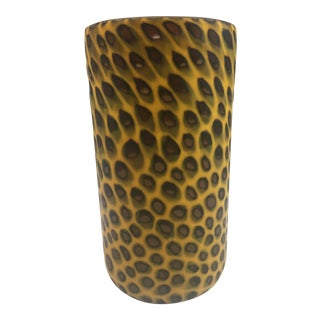 Murano Art Glass Spotted Vase For Sale