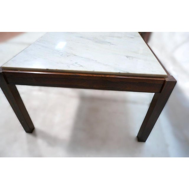 Danish Modern Rosewood & Marble Coffee Table - Image 10 of 10
