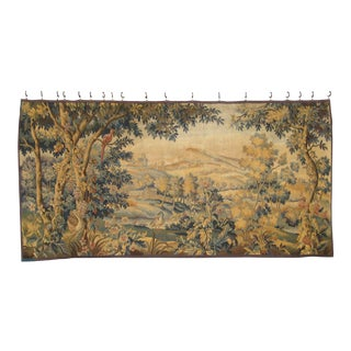 19th Century French Aubusson Verdure Tapestry For Sale