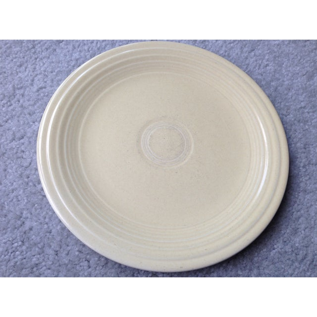 "VINTAGE Fiestaware 9 1/2"" 9"" LUNCHEON PLATE White Ivory Glaze (1937-1951) Used/Pre-Owned: No Cracks, No chips but has..."