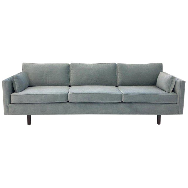 1950s Carroll Beaupré Interiors Custom Mohair Sofa For Sale
