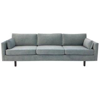 Custom Mohair Sofa by Carroll Beaupré Interiors For Sale