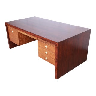 Edward Wormley for Dunbar Rosewood Executive Desk, Newly Restored For Sale
