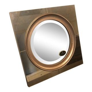 Abstract Brass Gouveia Wall Mirror