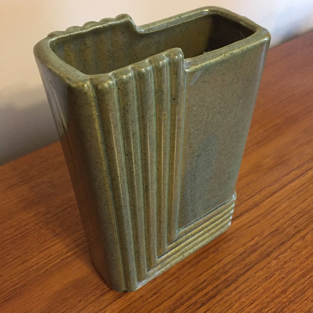 Brush Mid-Century Art Deco Style Ceramic Vase - Image 3 of 6