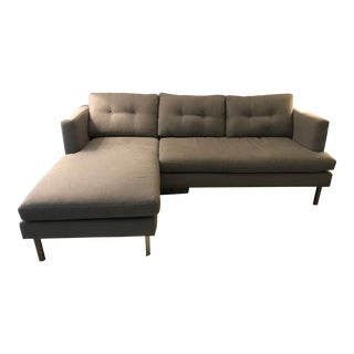 Modern West Elm Jackson Sectional With Reversible Chaise For Sale