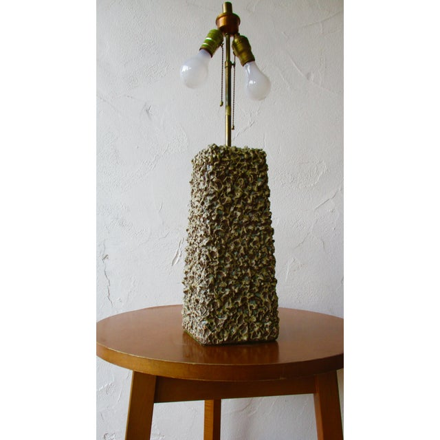 Rita Sargen-Simon Rita Sargen Textured Pottery Table Lamp For Sale - Image 4 of 12