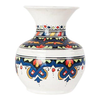 Moroccan Navy Handmade Ceramic Vase