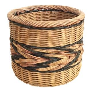 Vintage Large Woven Plant Basket