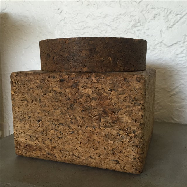 Vintage Cork Tobacco Humidor For Sale - Image 4 of 10