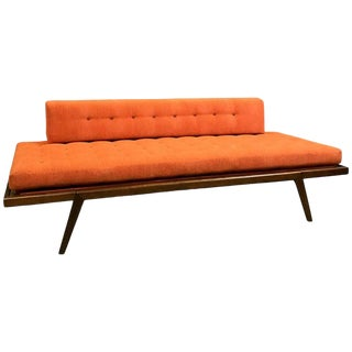 Mid-Century Modern Mel Smilow Walnut Upholstered Daybed For Sale