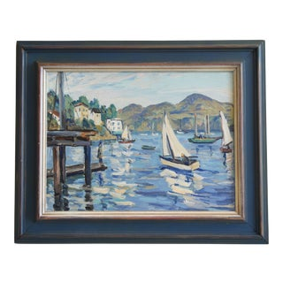 Bart Holden, Tiburon California Seascape Landscape Oil Painting